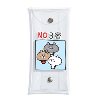 くまコロりん『NO3密』 Clear Multipurpose Case