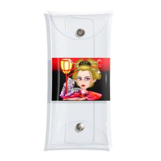 セアのお店の花魁ゆーこ背景付きVer Clear Multipurpose Case