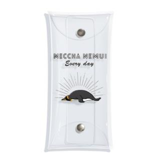 MECCHA NEMUI ペンギン Clear Multipurpose Case