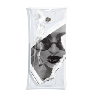 サングラスの女性 Clear Multipurpose Case