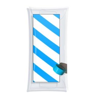 青いテープ Clear Multipurpose Case