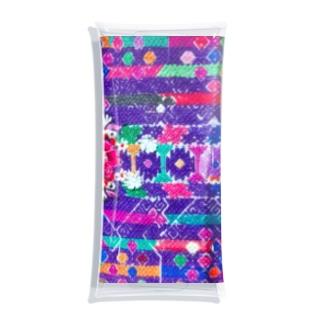 グアテマラ民族衣装柄2 Clear Multipurpose Case