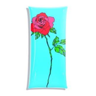 paper rose Clear Multipurpose Case