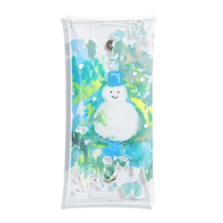 マリのイラストショップのCool Summer- Snowman Clear Multipurpose Case