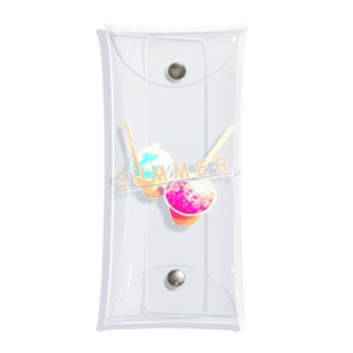 SUMMER 夏がきた カキ氷ver. Clear Multipurpose Case