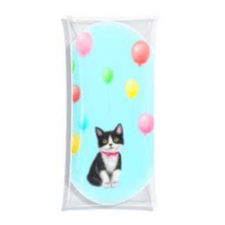 Atelier Heureuxの~Dream~ハチワレ子猫ちゃんと風船 Clear Multipurpose Case