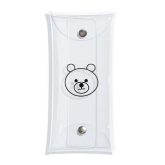 iotoioooの真顔のくま🧸 Clear Multipurpose Case