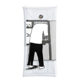 冷蔵庫を漁る人 Clear Multipurpose Case