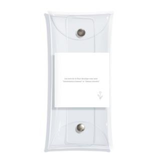 rilybiiの線画チューリップ🌷花言葉 Clear Multipurpose Case