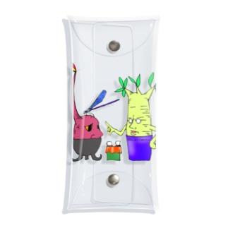 植物頭と神様トンボ Clear Multipurpose Case