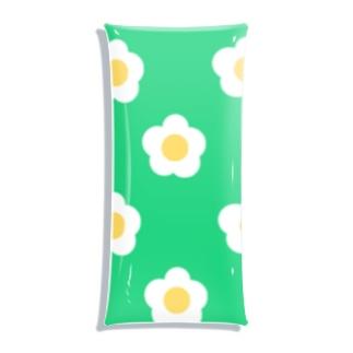 White Flower(グリーングリーン) Clear Multipurpose Case