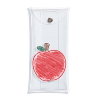 クレヨンで赤リンゴ Clear Multipurpose Case