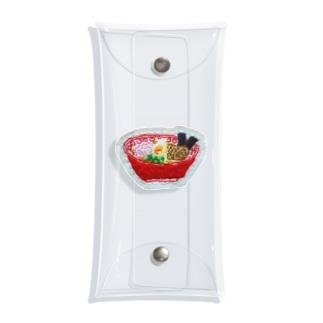 刺繍で作ったおいしい醤油ラーメン Clear Multipurpose Case