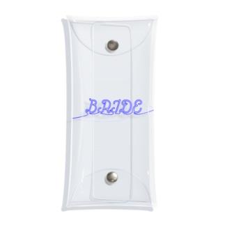 ペア(BRIDE)青い糸 Clear Multipurpose Case