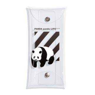 飛び出すパンダ ストライプ Clear Multipurpose Case