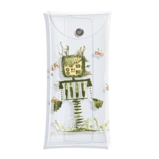 蝶とロボット Clear Multipurpose Case