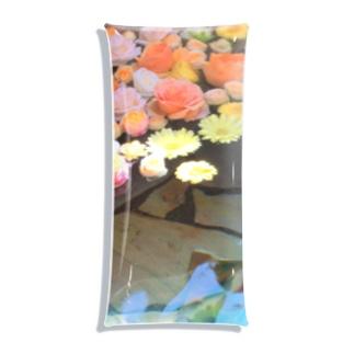 水面に浮かぶ花 Clear Multipurpose Case