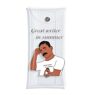 夏の文豪Tシャツを着た夏の文豪 Clear Multipurpose Case