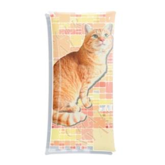 茶トラにゃんこ Gingercat 文字入り Clear Multipurpose Case
