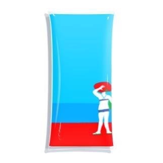 I wanna go to sea!! Clear Multipurpose Case