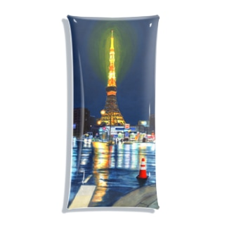 東京タワー×カラーコーン Clear Multipurpose Case