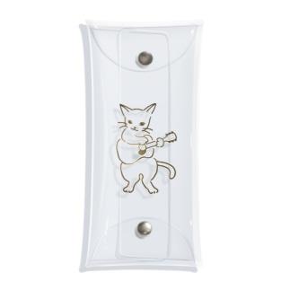 ギター弾く猫 1 Clear Multipurpose Case