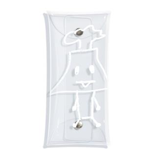白色さくらじまさん Clear Multipurpose Case