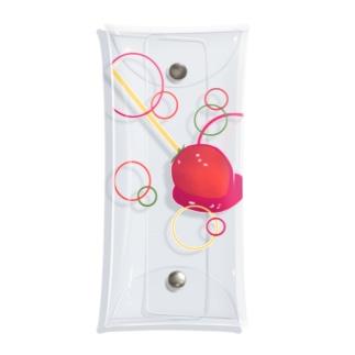 宝石いちご飴 Clear Multipurpose Case