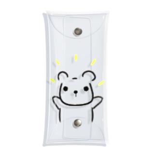 ramu-chanのくまちゃん Clear Multipurpose Case