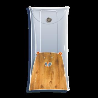 BEARGUNDYの木彫り Clear Multipurpose Case