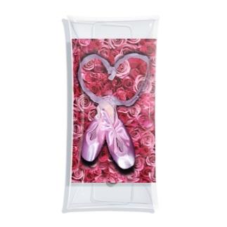バレエコレクション トウシューズ pink Clear Multipurpose Case
