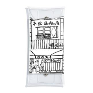 精肉店モノクロ Clear Multipurpose Case