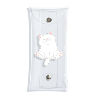 もっちり猫 Clear Multipurpose Case