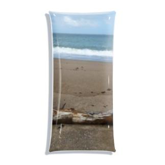 ちび猫の秋の海 Clear Multipurpose Case