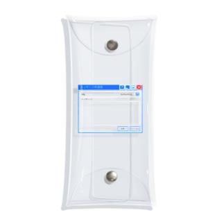 透明メッセージ Clear Multipurpose Case