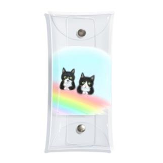 虹の橋のmonoクロちゃん達 Clear Multipurpose Case