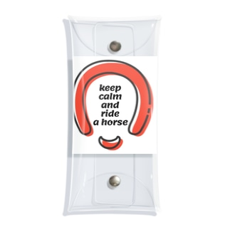 Keep calmの馬、蹄鉄、馬蹄シリーズ Clear Multipurpose Case