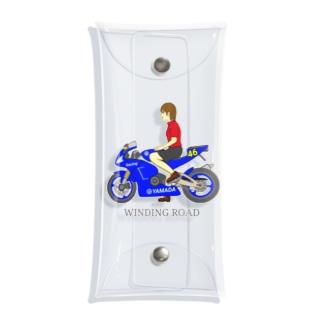 バイク女子 Clear Multipurpose Case