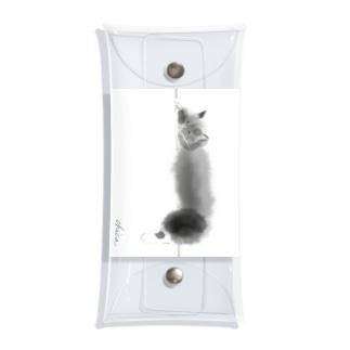 ノルウェージャンフォレストキャット黒猫 Clear Multipurpose Case
