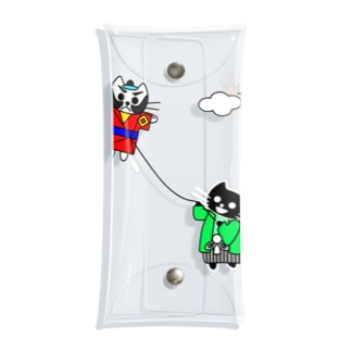 たまとクロの凧揚げ Clear Multipurpose Case