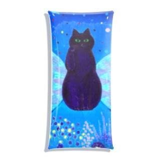 招き猫 Clear Multipurpose Case