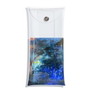 抽象画家ShizukiKagawaのマリンブルーの詩 Clear Multipurpose Case