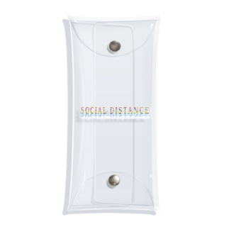 SOCIAL DISTANCE Clear Multipurpose Case