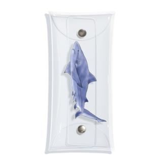 オオメジロザメさん Clear Multipurpose Case