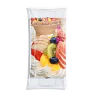 フルーツのケーキ Clear Multipurpose Case