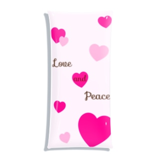 Love and Peace Clear Multipurpose Case