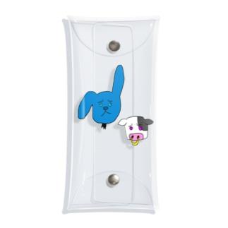 ファンシーウサギと牛 Clear Multipurpose Case