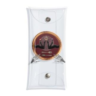 満月のお茶会 Clear Multipurpose Case