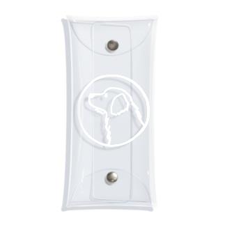 ゴールデン・レトリーバー〈白線・円〉 Clear Multipurpose Case