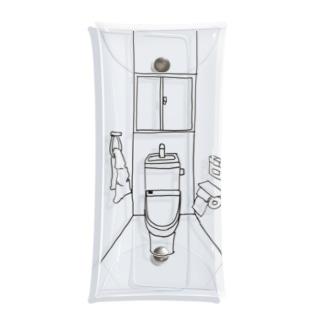 あるトイレの一室 Clear Multipurpose Case